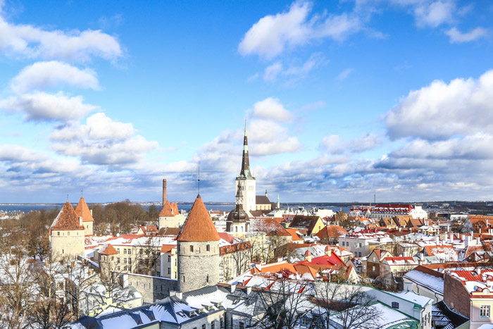 Visitant Tallinn, capital d'Estònia