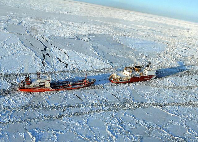 Mar de Bering i illa Petita Diomeda