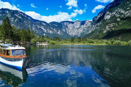 Llac Bohinj i Alps Julians, Eslovènia