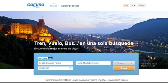 GoEuro t'ajuda a viatjar per Europa